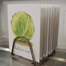 """Lettuce Eat"" Produce Print Hand Lettered Note Card for sale at thesimplepalette.etsy.com"