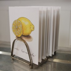 """Make Lemonade"" Produce Print Hand Lettered Note Card for sale at thesimplepalette.etsy.com"