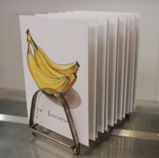 """Go Bananas"" Produce Print Hand Lettered Note Card for sale at thesimplepalette.etsy.com"